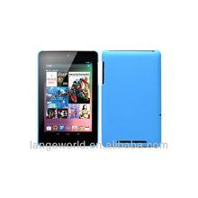 Blue Rubberized Hard Back case for tablet 7 inch google nexus 7