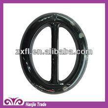 Wholesale black elliptical plastic buckles for dresses