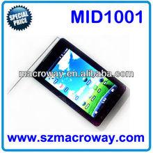 """MID1001: 5"""" 512/4GB MTK6573 + GPS + Bluetooth + FM radio +TV + GSM + 3G + Dual SIM cheapest tablet pc with sim slot"""
