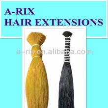 yellow black remy hair bulk extensions