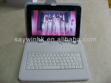 10.1 inch cute tablet pc case with wired keyboard