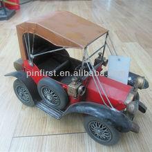 Rare Vintage Mechanical Fine Art Antique Iron Car Model