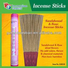 2013 caliente de la venta de incienso de sándalo árbol y de la flor de rose