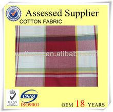 Check pattern fabric Plaid cotton fabric