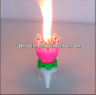 Rotating-lotus candle