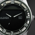 Grand Elegant Classic Men Man's Stainless Steel Black dial Man Men's Gift Quartz Watch WM231