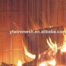 Durable fireplace mesh screen/fireplace curtain