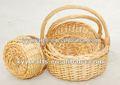3 piezas en miniatura de mimbre cesta de la flor( surtidor de la fábrica)