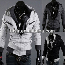 NEW Mens Slim Zipper Sweatshirt Mens Outerwear Hoodies Hoody