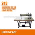 Keestar 243 de cama plana de pie y la aguja de alimentación industrial japonés de la máquina de coser