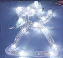 Christmas battery, solar lighted up angel lights string