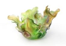 good selling European style lead crystal craft- 2015 vegetable shaped fruit dish