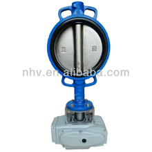 DN200 wafer type electric butterfly valve for cement