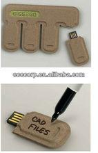 Hot sales new arrival writing eco paper usb flash drive 8gb