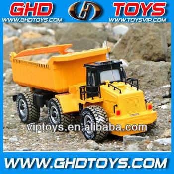 1:24 6ch radio control mini dump truck model toys for sale