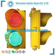 Yellow PC housing led traffic light(IP65)