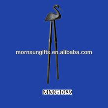 The standing dark shanped ceramic chopsticks holders for kids