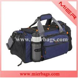 Sport duffel bag with water bottle pocket