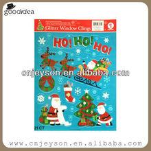 ST006 High quality christmas removable car body sticker/window sticker
