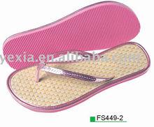 new design EVA straw flip flops for women