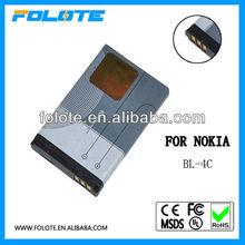 BL-4C BL4C- Batterie d'origine for Nokia Nokia 1100 / 1101 / 1110 / 1110i / 1112 / 1200 / 1208 / 1209 / 1280