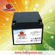 AGM panasonic car battery 12V28AH