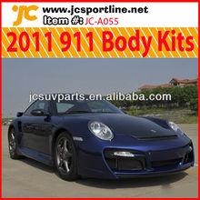 For 2011 Porsche 911 Body Kit Fiberglass Bumpers Carbon Front Lip