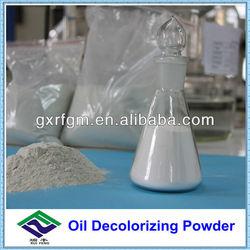 Oil decolorizing powder for gasoline