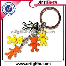 Cute bear keychains 5 ring key chain