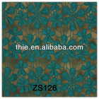 blue crochet hollow out jacquard floral lace fabric in rolls for sale