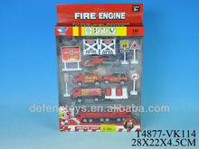 3D die-cast 1:87 model fire truck for sale
