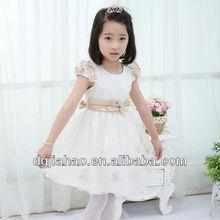 HOT! 2013 high quality fairy princess satin flower waist kids frocks designs for children