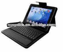 For iPad/iPad2/New iPad PU leather case with plasitc keyboard