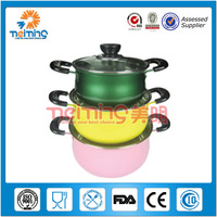 6 pcs colourful stainless steel apple Japanese cookware