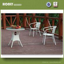Cheap aluminium chairs and table