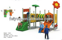 BV TUV ISO CE kids outdoor playground baby play yard low platform fit for toddlers plastic sliding board model 13FY14402