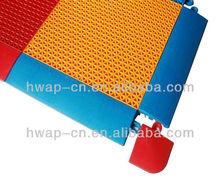 Suspended Interlocking Flooring/Yellow Surface Plastic Floor Assembly/Outdoor Sport Suspension Flooring