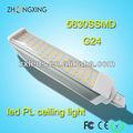 Alta calidad g24d-3 compactas led PL carcasa de la lámpara 85 - 265 V 13 W 5630 SMD