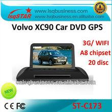 A8 Chipset S100 platform auto radio for volvo xc90 with 3G WIFI GPS /BT/TV/Radio/20 Disc CDC/IPOD/3-Zone POP/3D Flash
