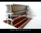 aluminium Profile/frame with wood grain for window / door