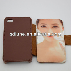 pu & leather sublimation cell phone case for iphone 4/4s case with card slot