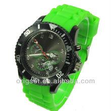 2014 new watch silicon custom logo your brand logo watch