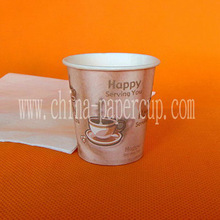 4oz single wall hot drink size of paper cup and coffee cup with lids and stirrer
