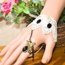 Facotry charms cloth accesseries wholesale FC-16 black dimamond evil eye bracelet