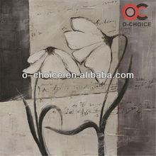 White flower magnolias canvas oil painting