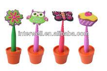 2014 new style!PVC Soft pen,cupcake pen,butterfly pen