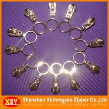 Custom made metal auto locking zipper slider with ring puller