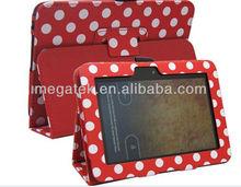 Polka dot folio leather case for kindle fire hd 8.9 ,FOR Kindle fire case leather ,kindle case leather