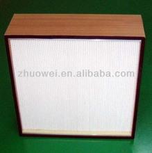 Deep Pleat HEPA Box Filter in efficiencies of 99.99% to 99.999%