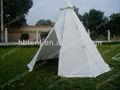 ao ar livre de acampamento indígena tenda tipi algodão lona da tenda